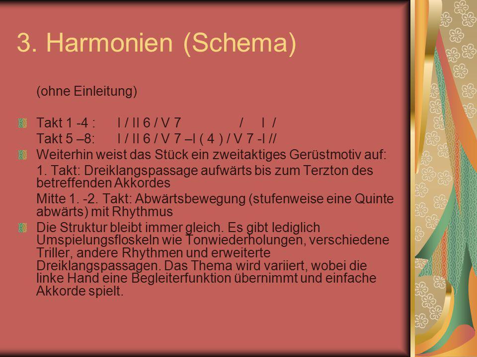 3. Harmonien (Schema) (ohne Einleitung)