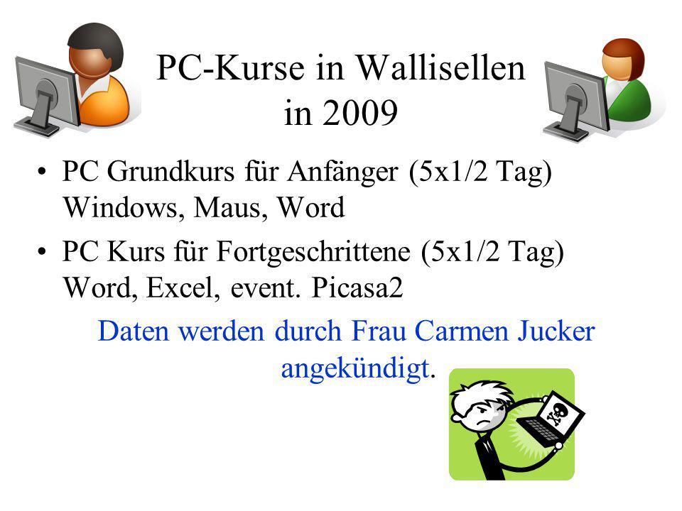 PC-Kurse in Wallisellen in 2009