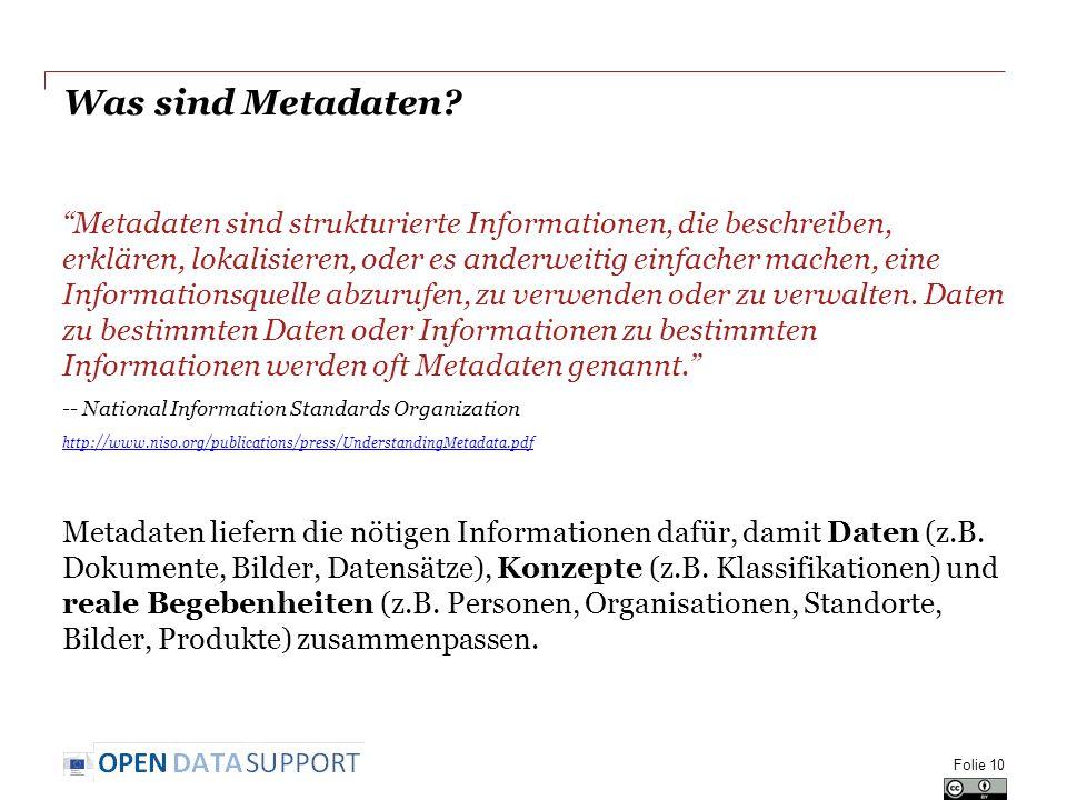 Was sind Metadaten