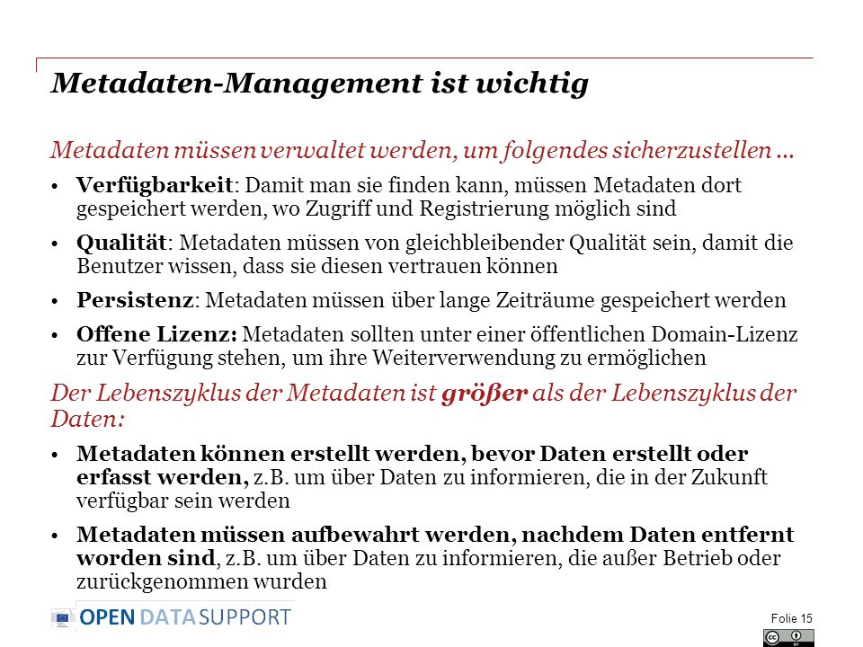 Metadaten-Management ist wichtig