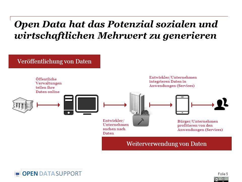 Open Data hat das Potenzial sozialen und wirtschaftlichen Mehrwert zu generieren