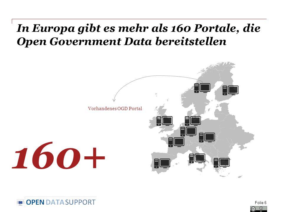 In Europa gibt es mehr als 160 Portale, die Open Government Data bereitstellen
