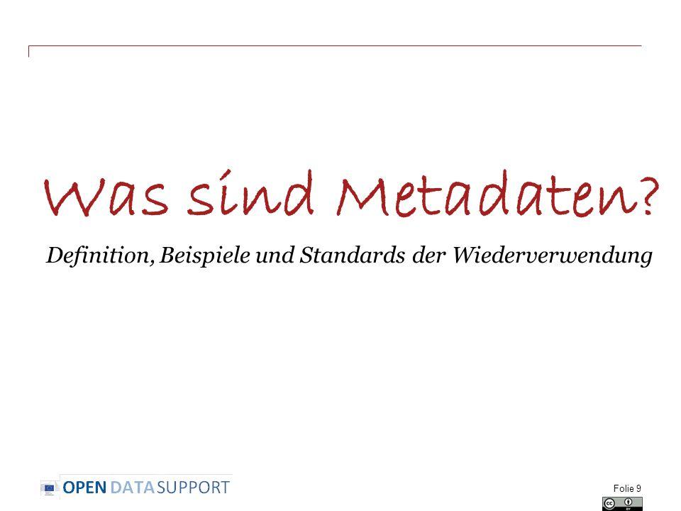 Was sind Metadaten Definition, Beispiele und Standards der Wiederverwendung