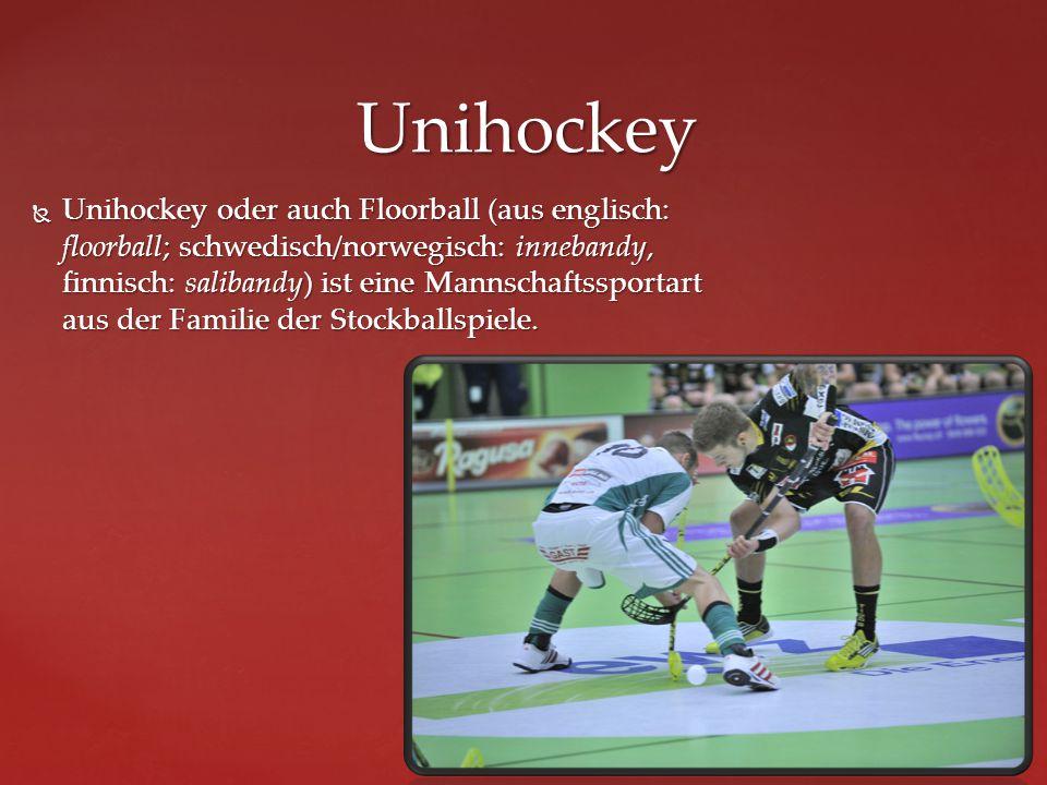 Unihockey oder auch Floorball (aus englisch: floorball; schwedisch/norwegisch: innebandy, finnisch: salibandy) ist eine Mannschaftssportart aus der Familie der Stockballspiele.