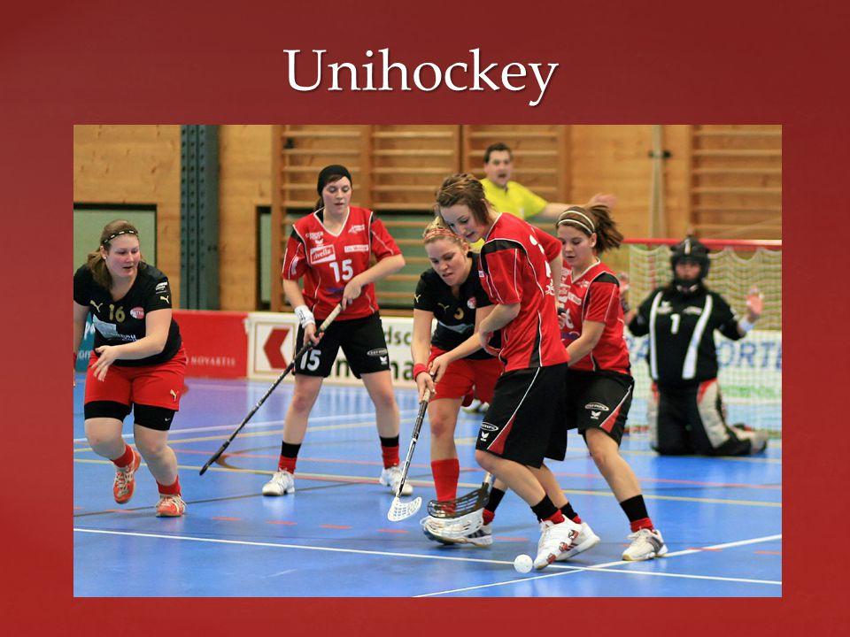 Unihockey Der Unihockeystock ist zweiteilig (Schaufel, Schaft) und besteht aus Kunststoff.