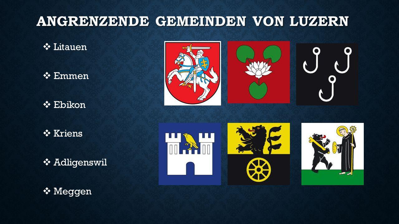 Angrenzende Gemeinden von Luzern