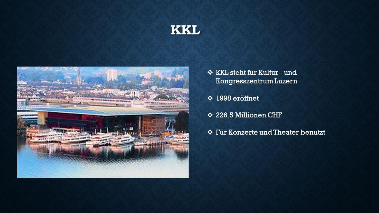 KKL KKL steht für Kultur - und Kongresszentrum Luzern 1998 eröffnet