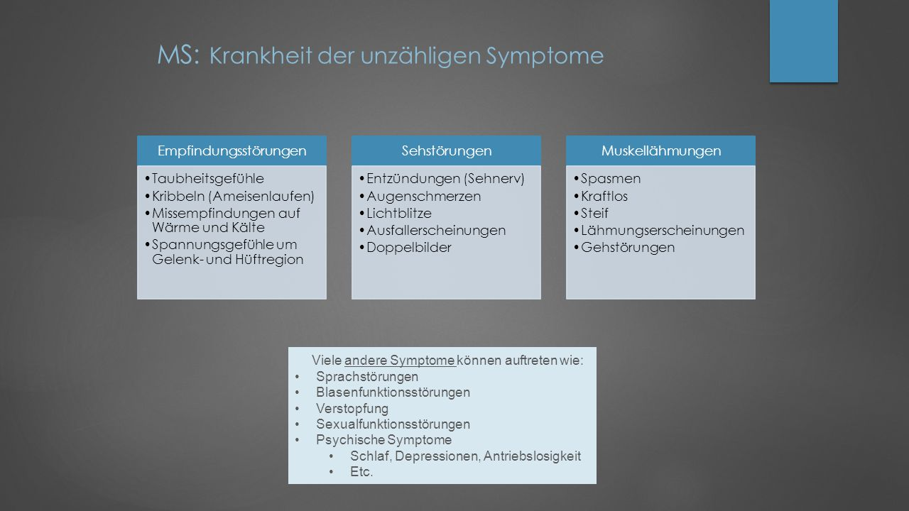 MS: Krankheit der unzähligen Symptome