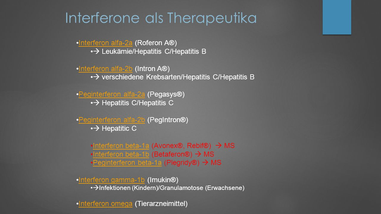 Interferone als Therapeutika