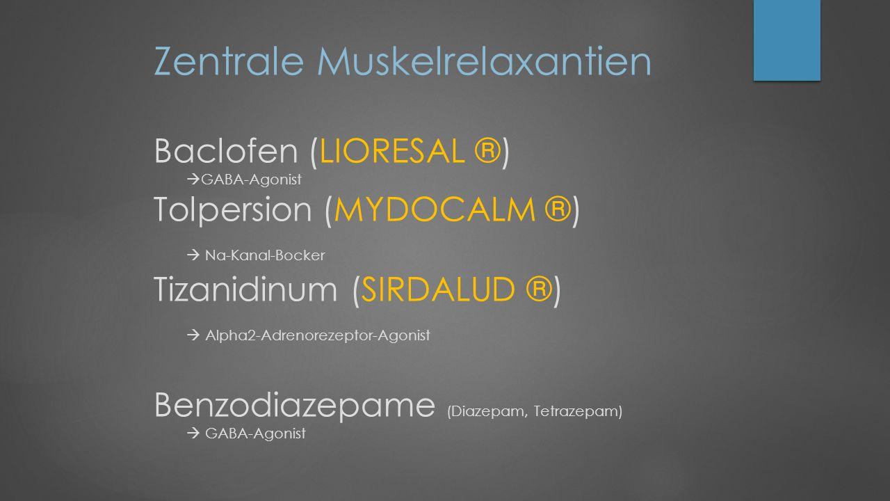 Zentrale Muskelrelaxantien Baclofen (LIORESAL ®)