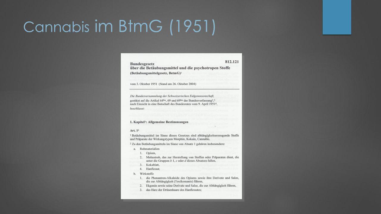 Cannabis im BtmG (1951)
