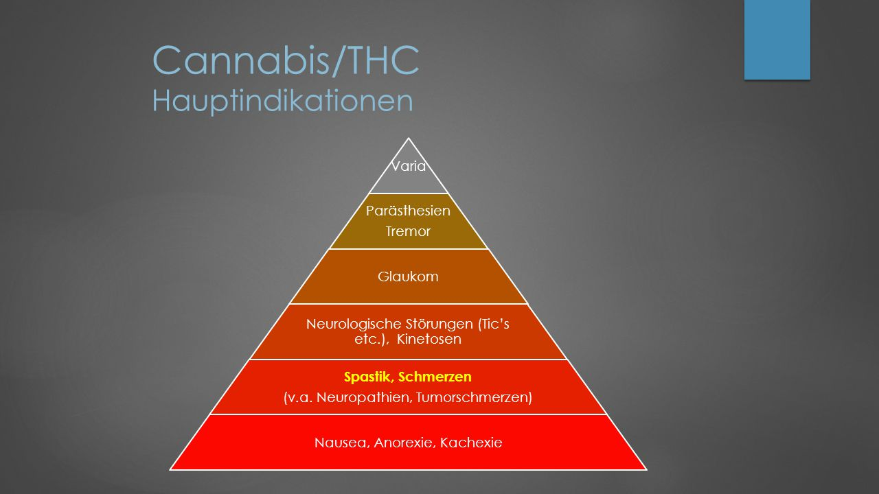 Cannabis/THC Hauptindikationen