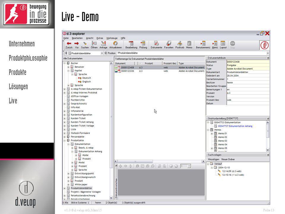 Live - Demo v1.0 © d.velop AG, April 17