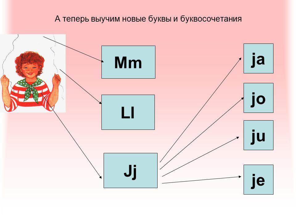 А теперь выучим новые буквы и буквосочетания