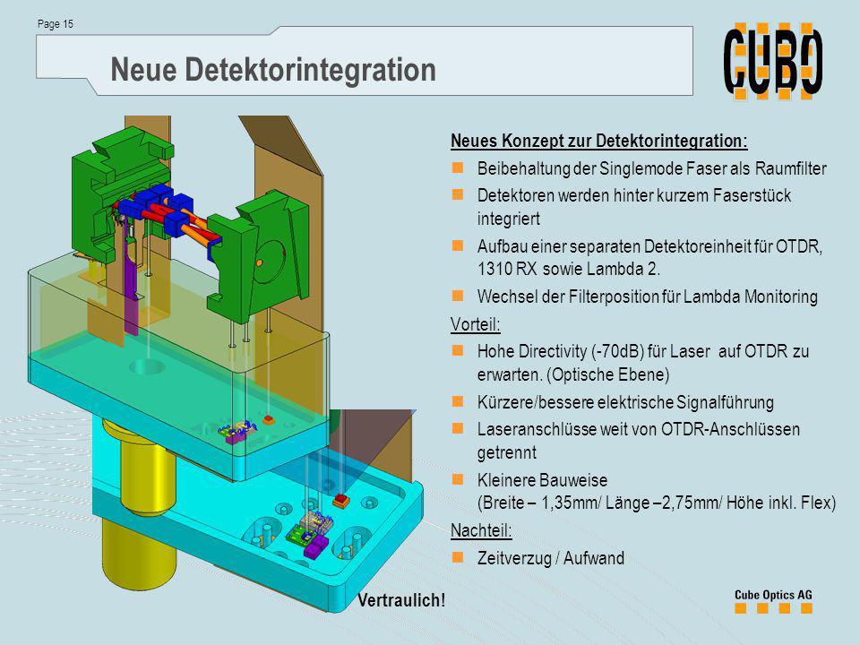 Neue Detektorintegration