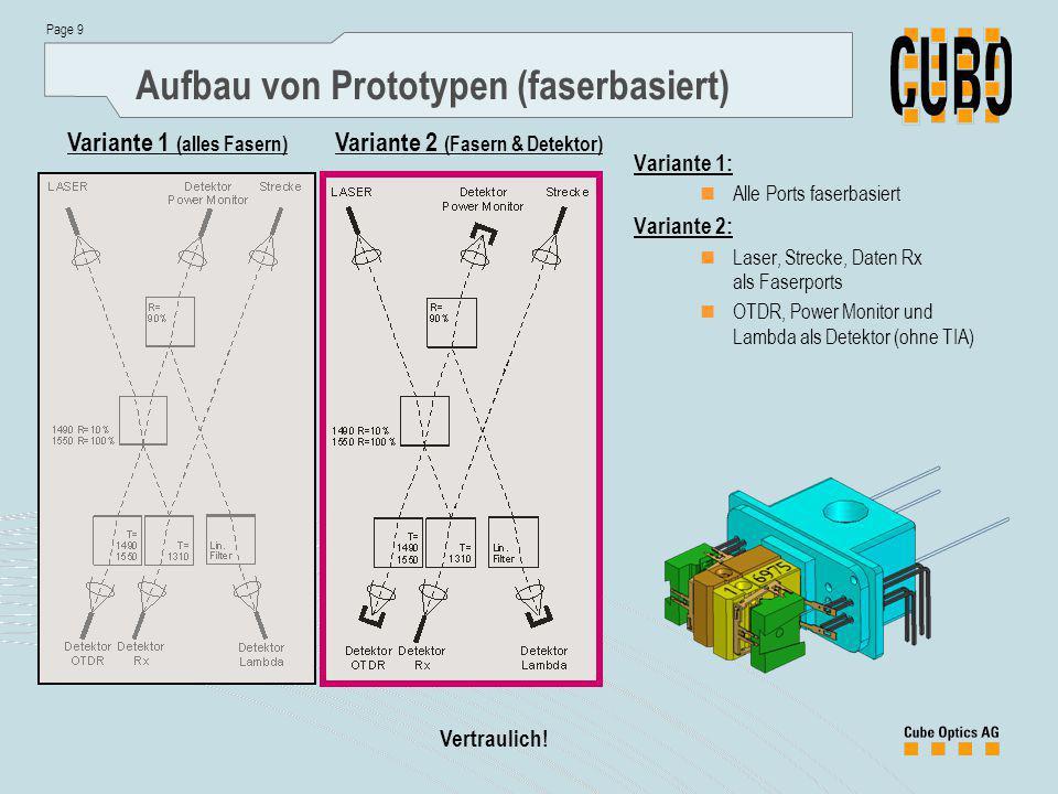 Aufbau von Prototypen (faserbasiert)