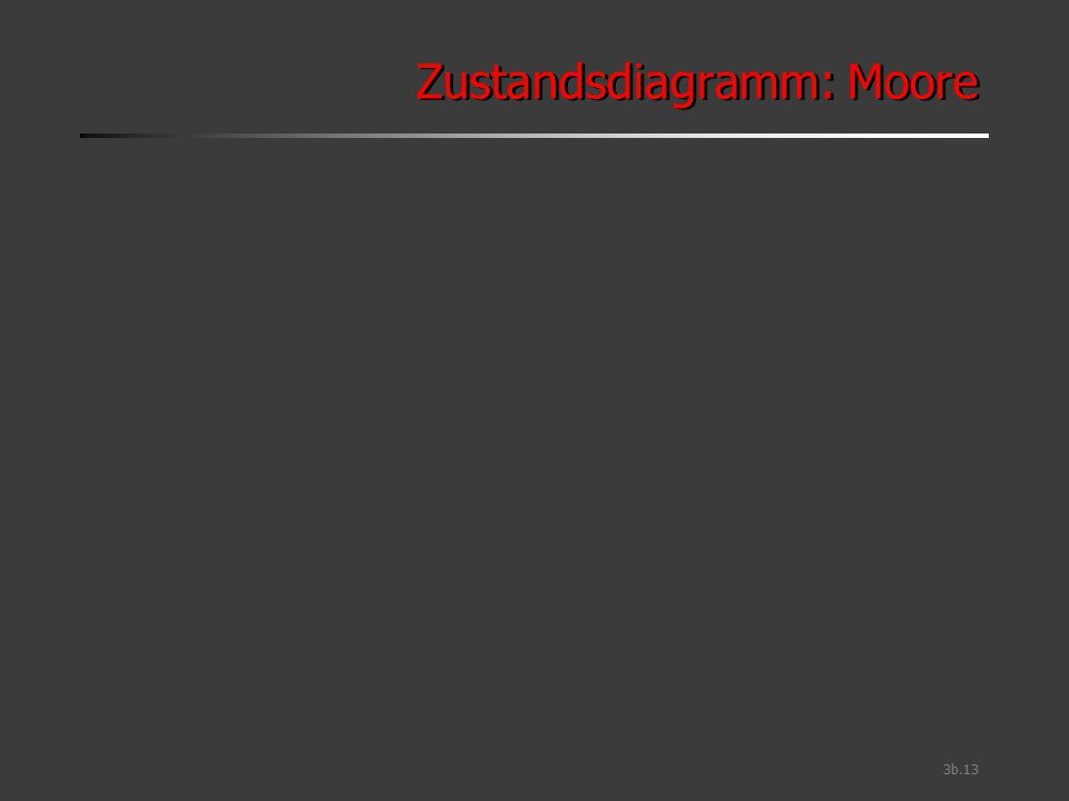 Zustandsdiagramm: Moore