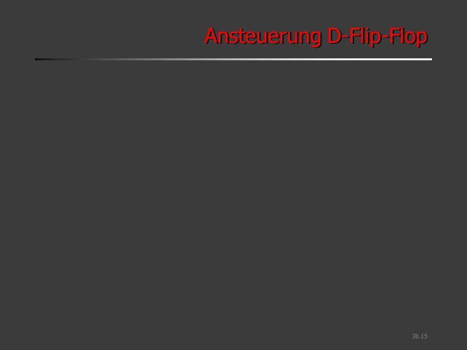 Ansteuerung D-Flip-Flop