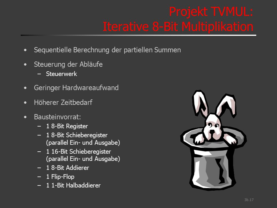 Projekt TVMUL: Iterative 8-Bit Multiplikation