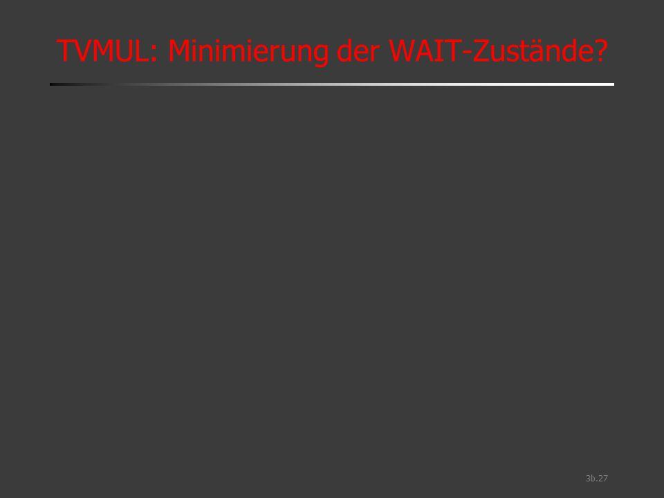 TVMUL: Minimierung der WAIT-Zustände