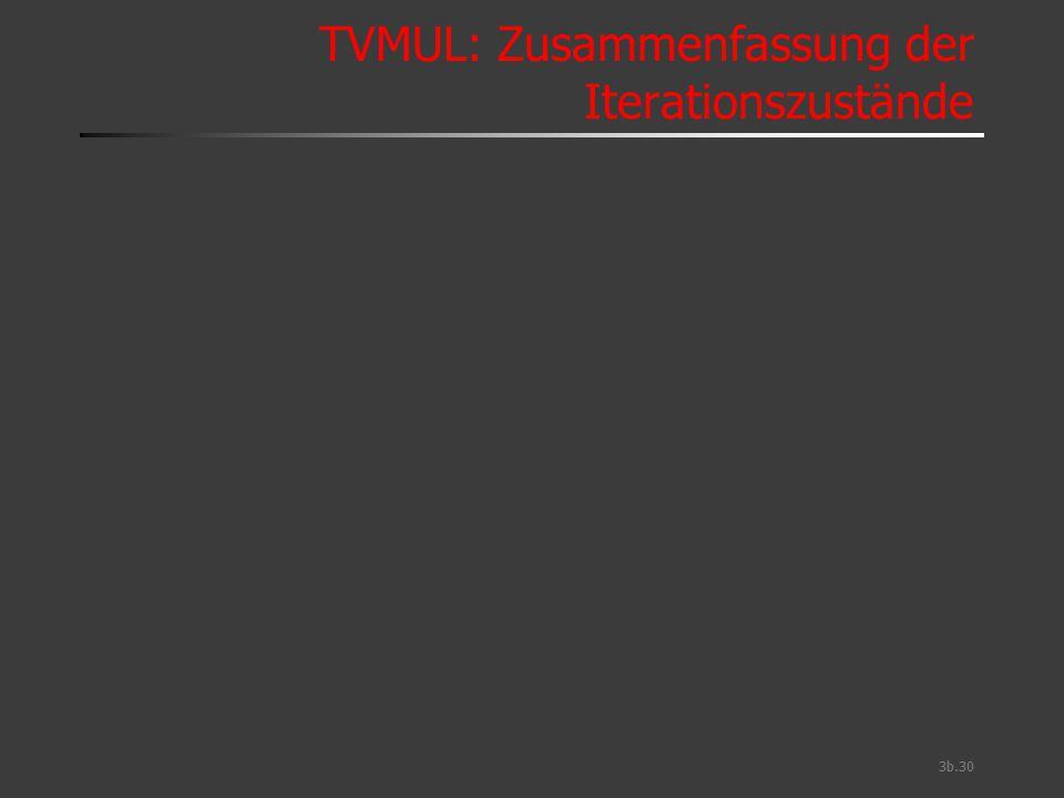 TVMUL: Zusammenfassung der Iterationszustände