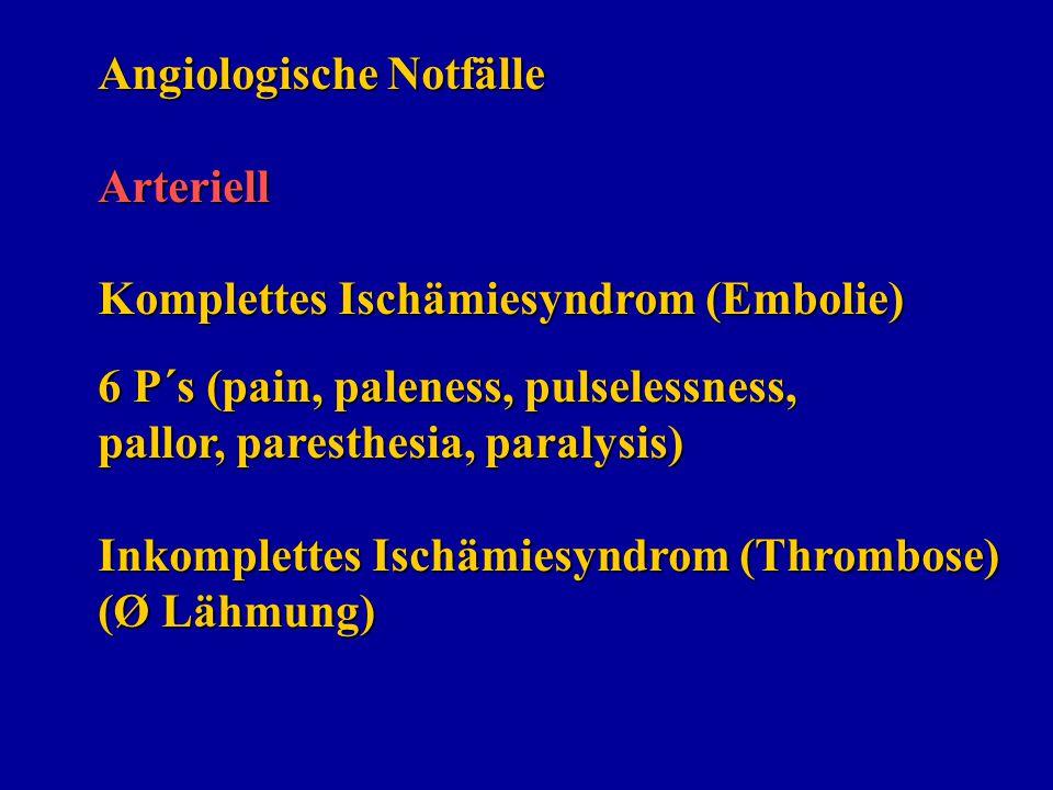 Angiologische Notfälle