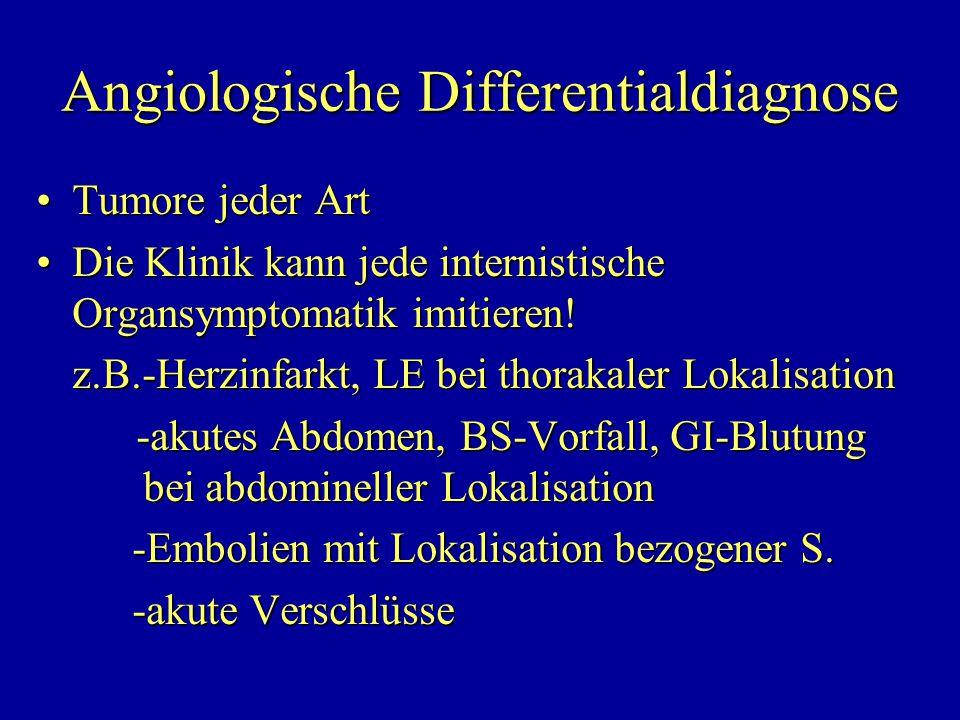 Angiologische Differentialdiagnose