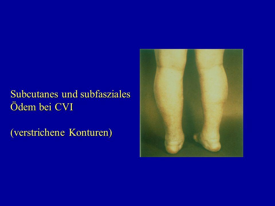 Subcutanes und subfasziales