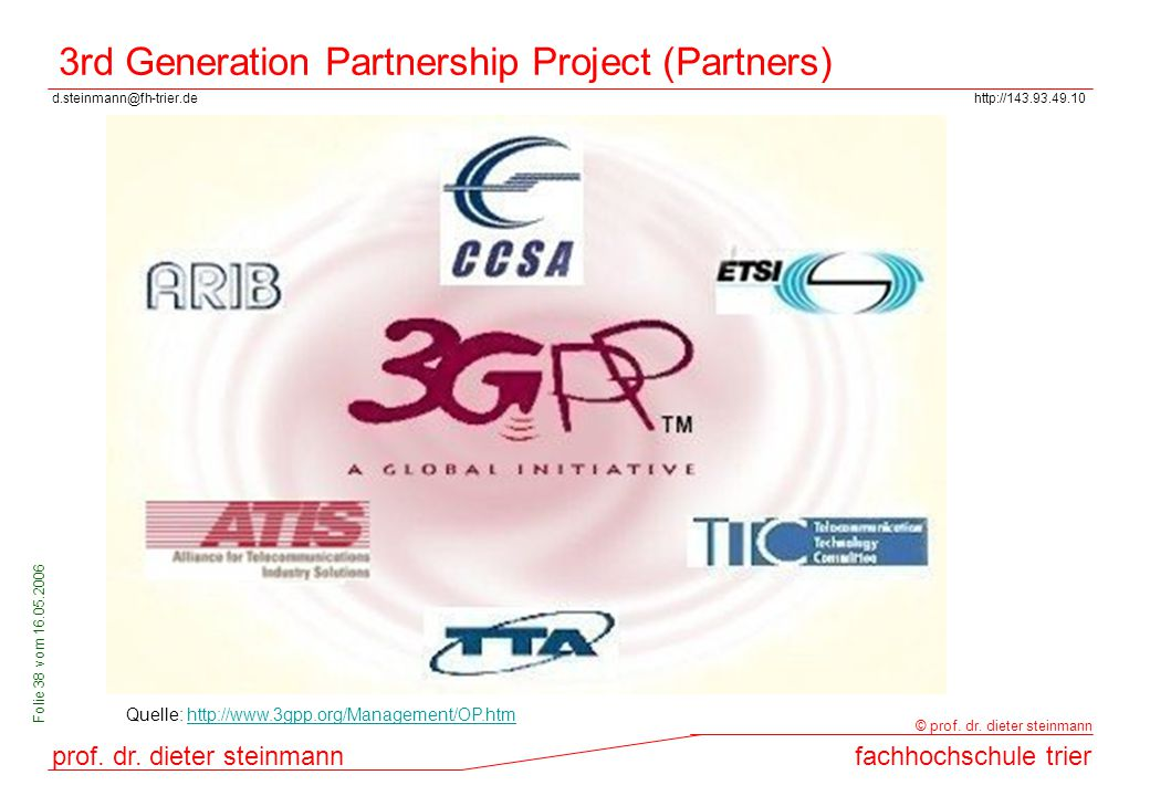 3rd Generation Partnership Project (Partners)