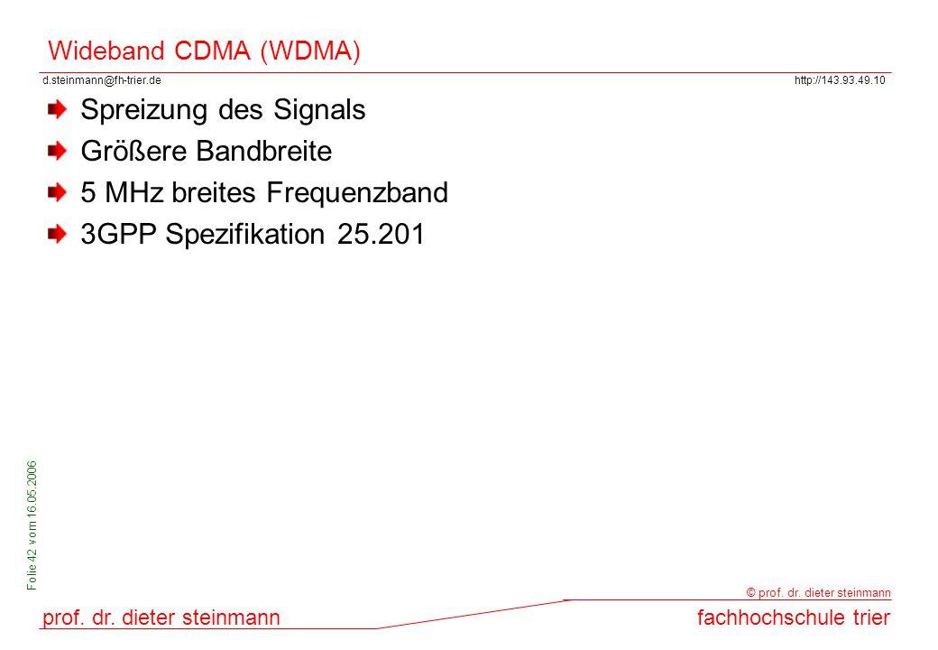 5 MHz breites Frequenzband 3GPP Spezifikation 25.201