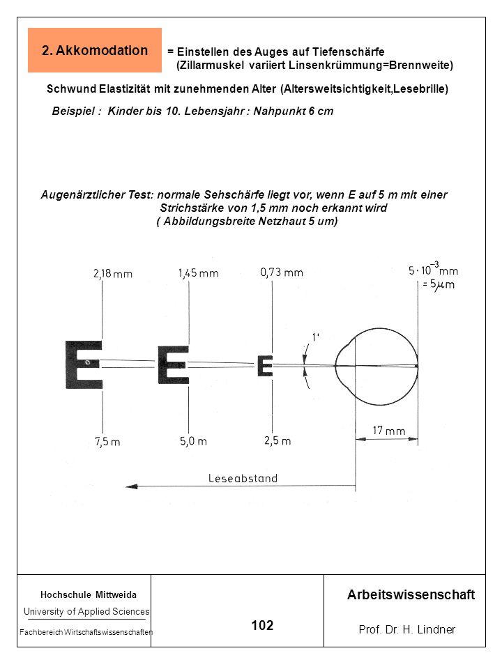 2. Akkomodation Arbeitswissenschaft 102