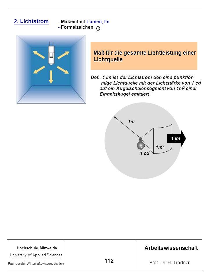 Maß für die gesamte Lichtleistung einer Lichtquelle