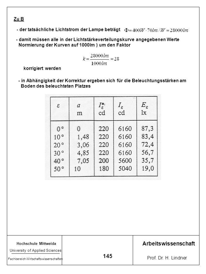 Arbeitswissenschaft 145 Zu B