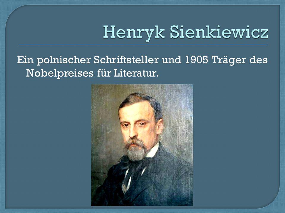 Henryk Sienkiewicz Ein polnischer Schriftsteller und 1905 Träger des Nobelpreises für Literatur.