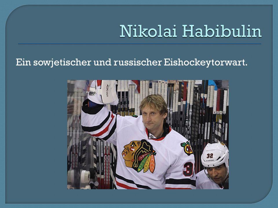 Nikolai Habibulin Ein sowjetischer und russischer Eishockeytorwart.