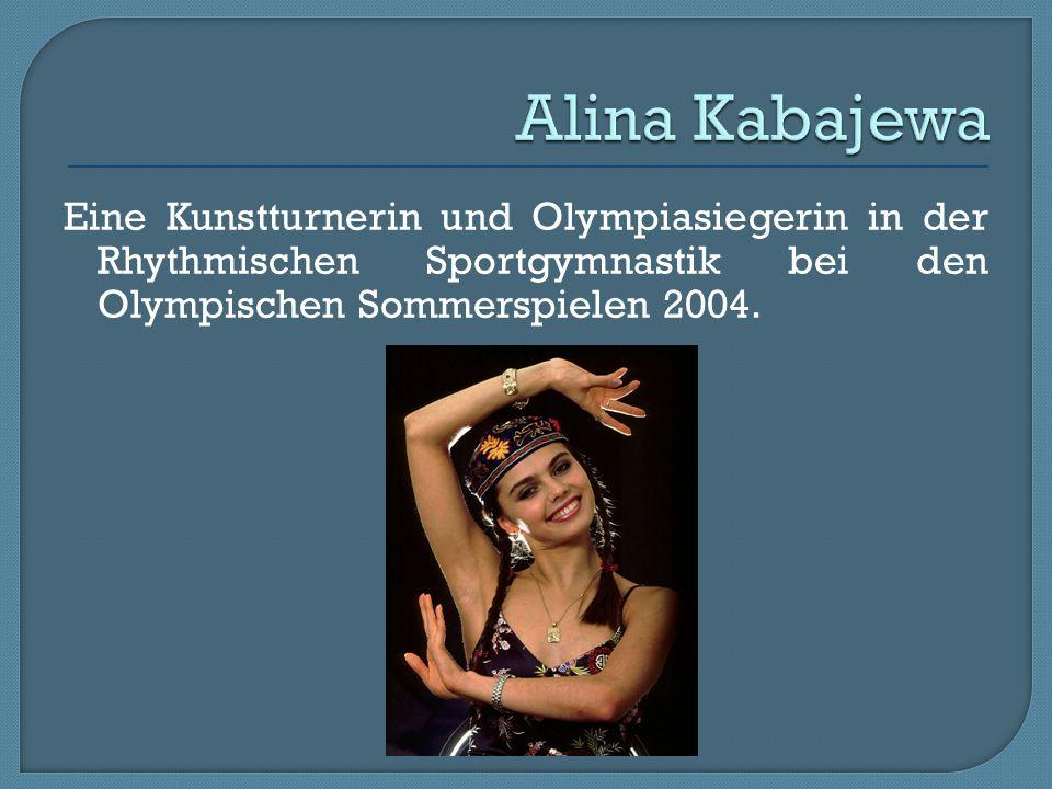Alina Kabajewa Eine Kunstturnerin und Olympiasiegerin in der Rhythmischen Sportgymnastik bei den Olympischen Sommerspielen 2004.
