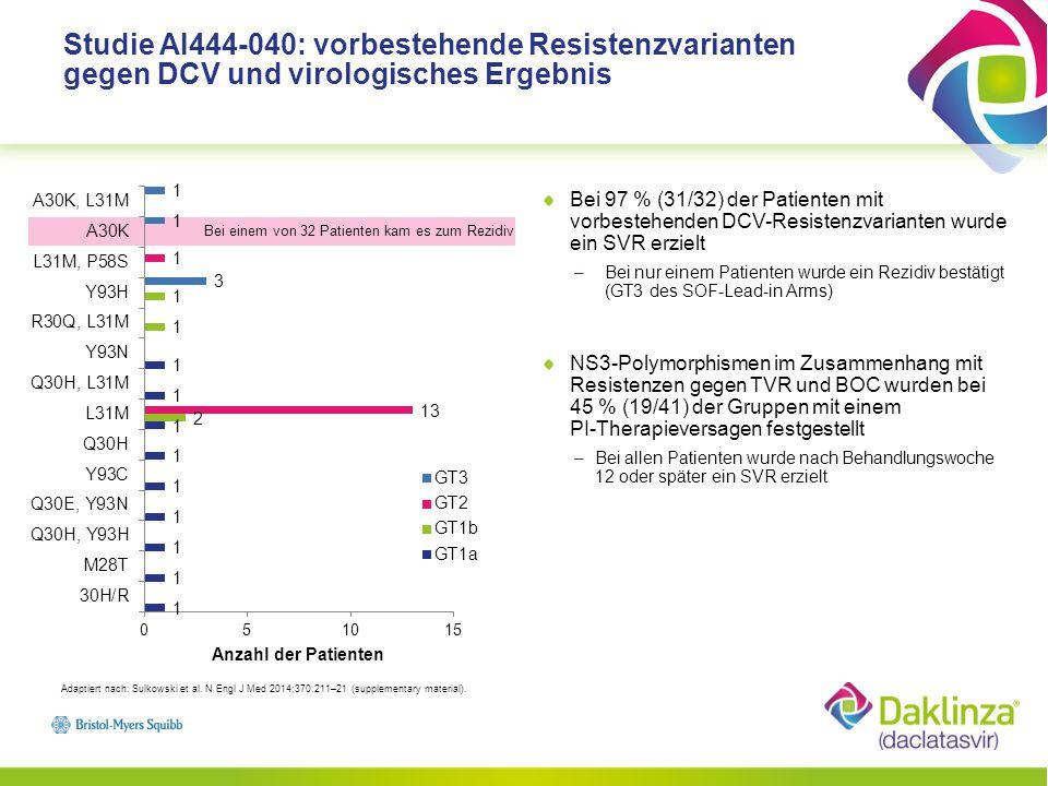 Studie AI444-040: vorbestehende Resistenzvarianten