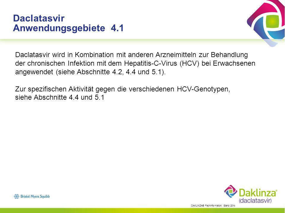 Daclatasvir Anwendungsgebiete 4.1