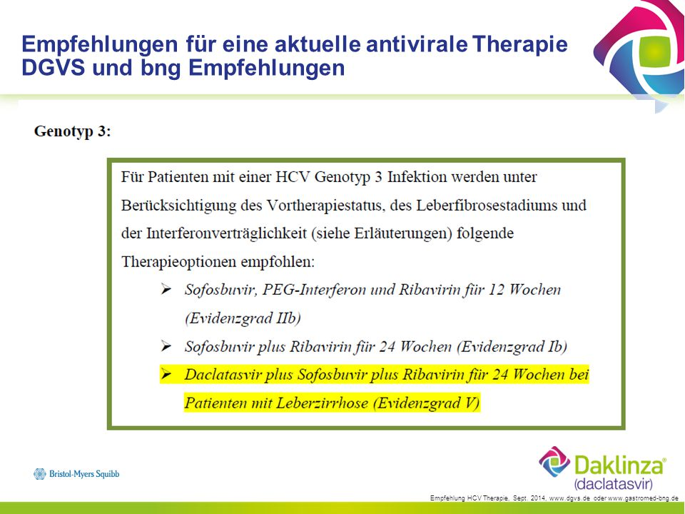 Empfehlungen für eine aktuelle antivirale Therapie