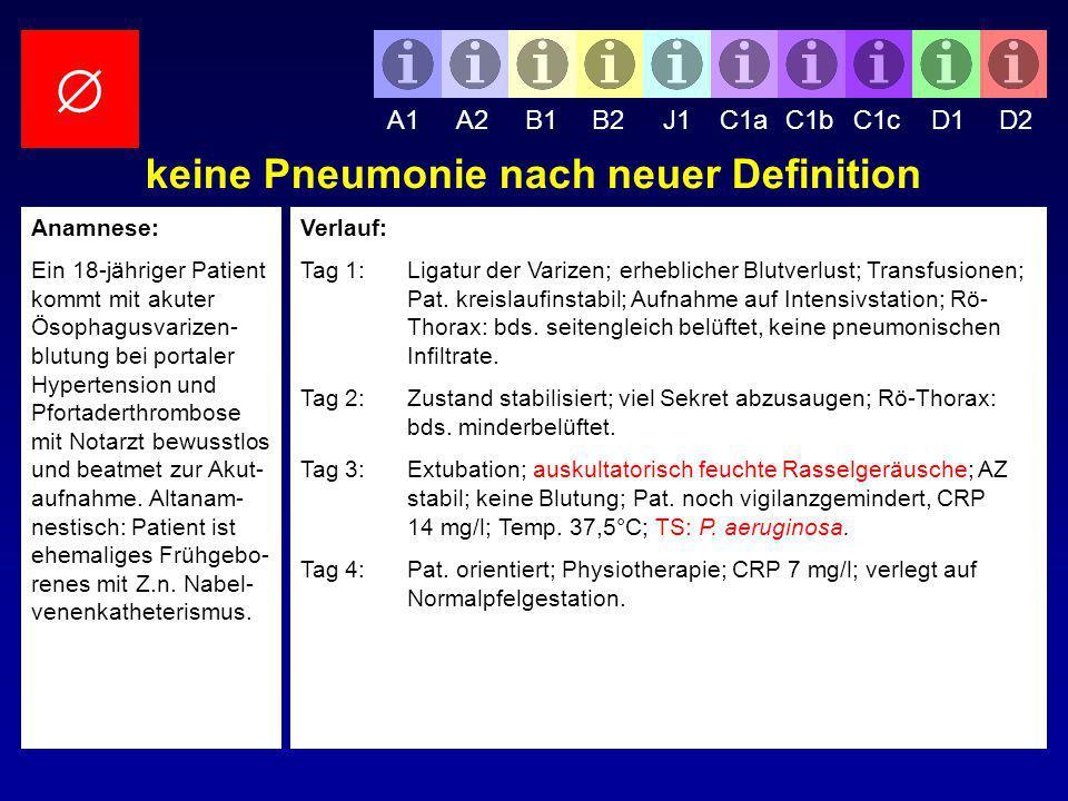 keine Pneumonie nach neuer Definition