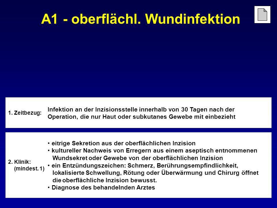 A1 - oberflächl. Wundinfektion