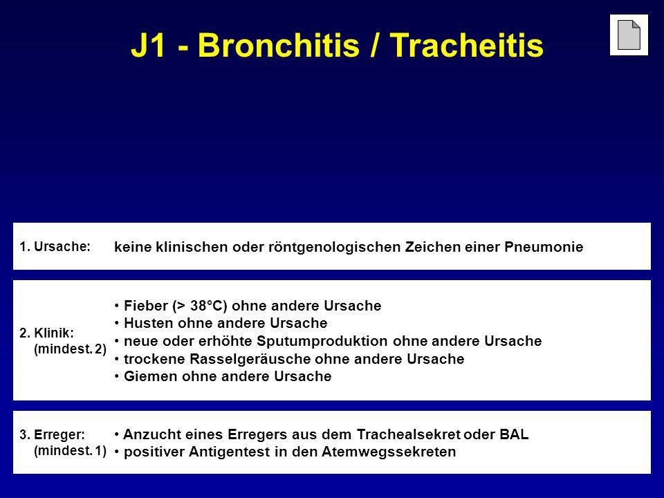 J1 - Bronchitis / Tracheitis