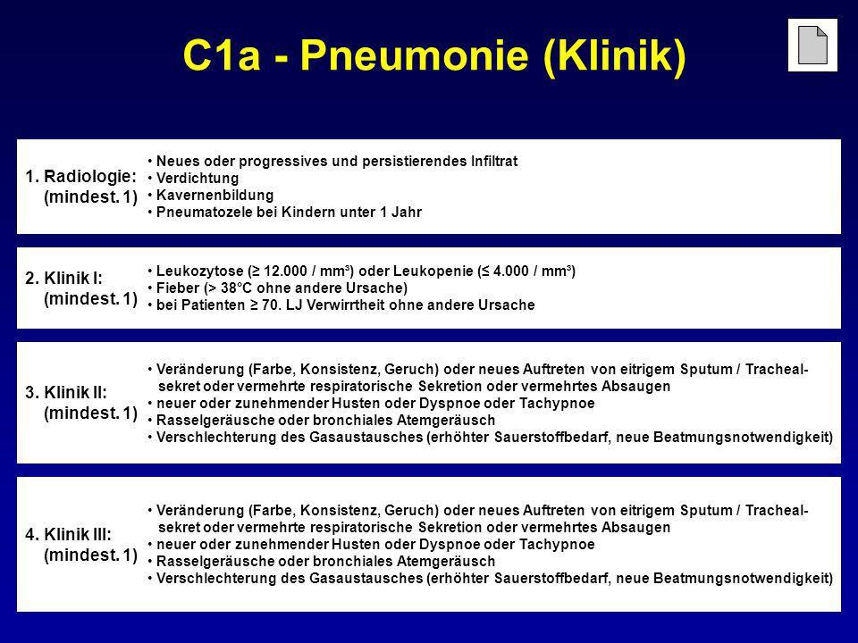 C1a - Pneumonie (Klinik)