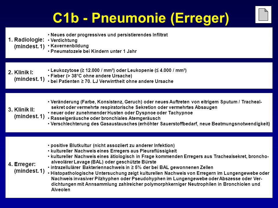 C1b - Pneumonie (Erreger)