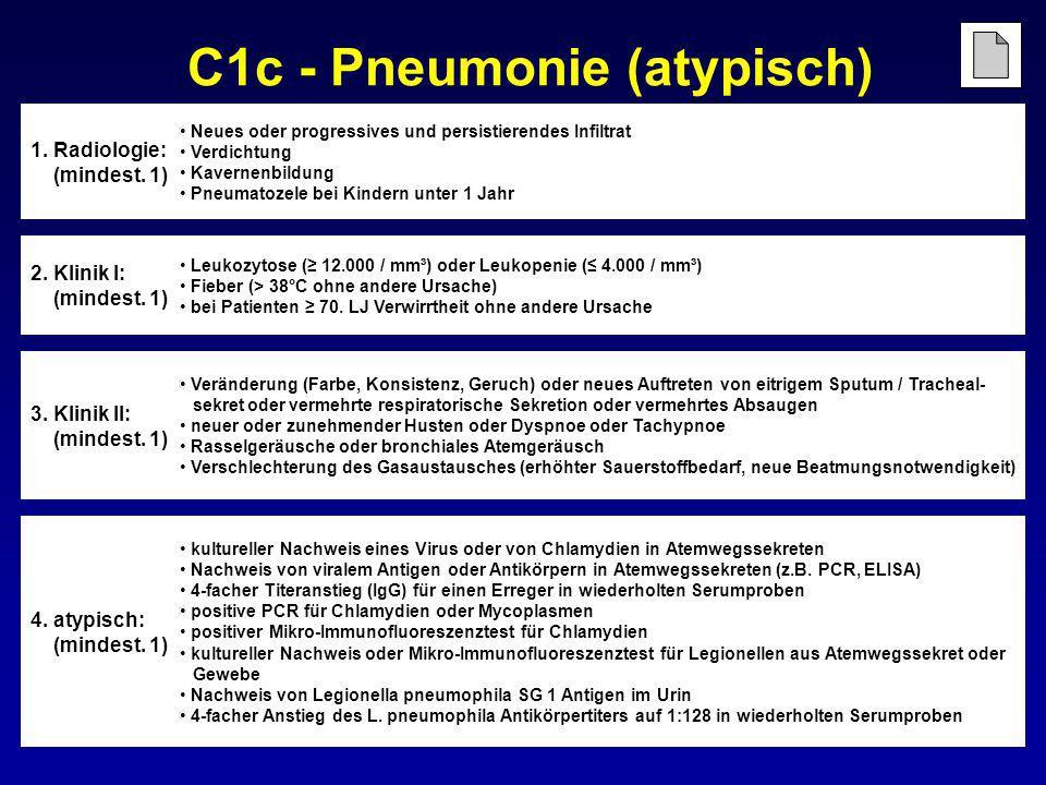C1c - Pneumonie (atypisch)