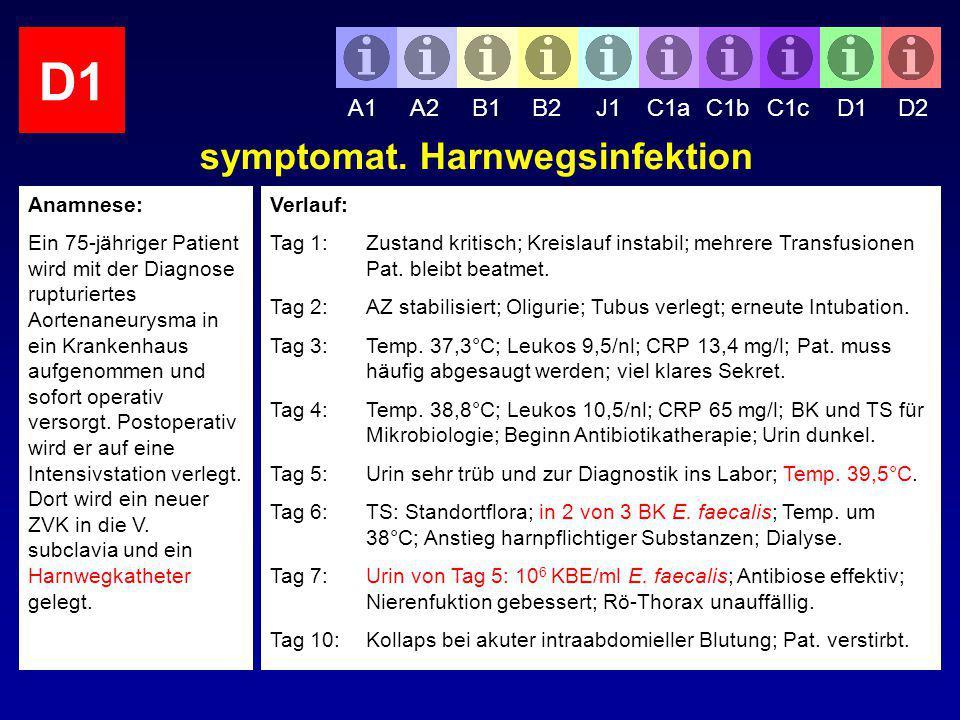symptomat. Harnwegsinfektion