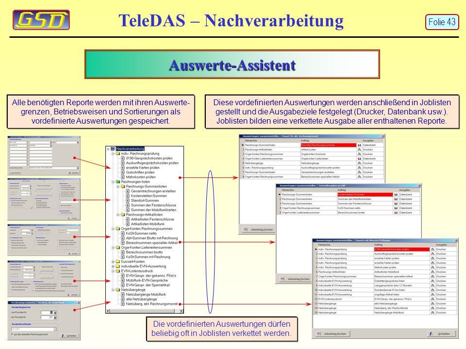 TeleDAS – Nachverarbeitung