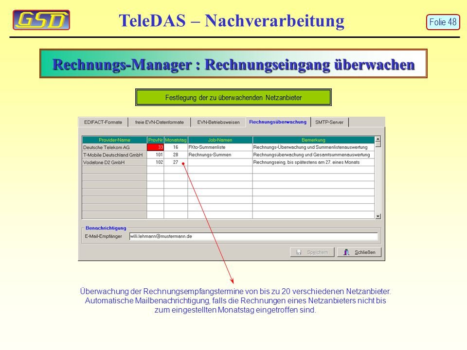 Rechnungs-Manager : Rechnungseingang überwachen