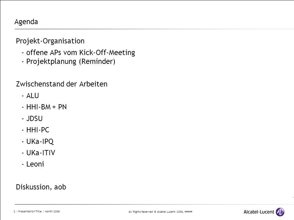 Agenda Projekt-Organisation. - offene APs vom Kick-Off-Meeting - Projektplanung (Reminder) Zwischenstand der Arbeiten.