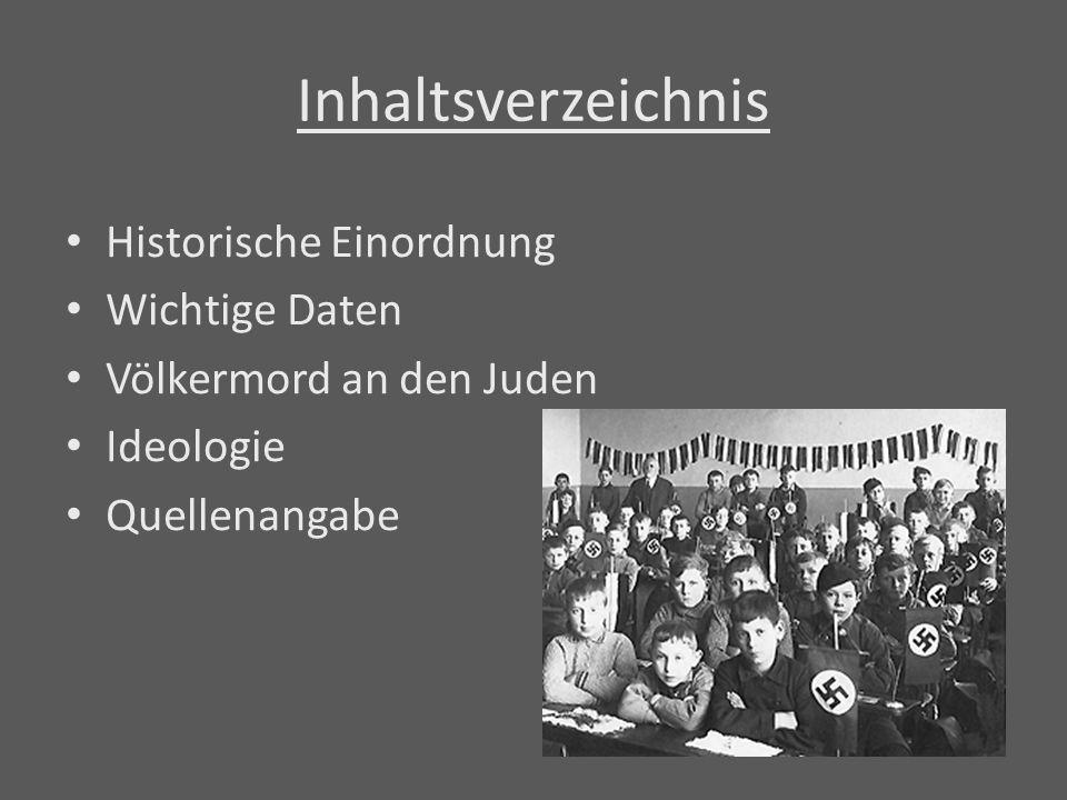 Inhaltsverzeichnis Historische Einordnung Wichtige Daten
